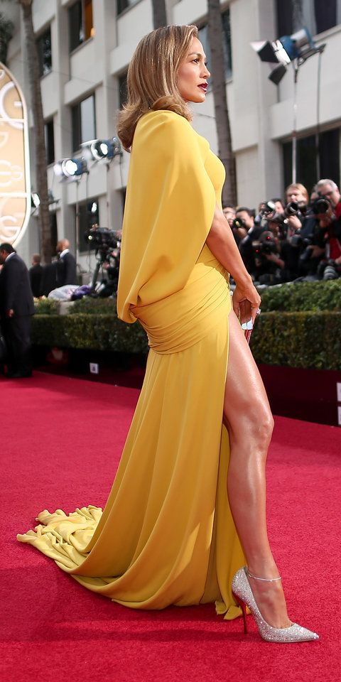 See Jennifer Lopez's Extraordinary Golden Globes Gown from Every Single Angle from InStyle.com