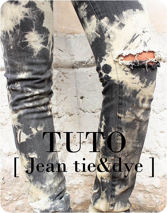 DIY Tie & dye denim /tie and dye jeans / DIY jean