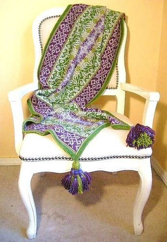 Ravelry: Thistle pattern by Mary Scott Huff   Look for the pattern to be published, early in 2014!