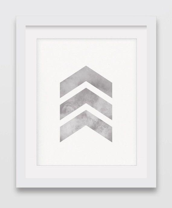 Cool Posters Gray Chevrons Wall ArtSmoke by AurasWallsVinyls