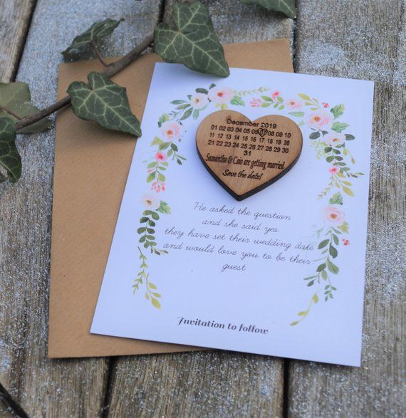 Diy Wooden Save The Date Magnet Diy Save The Date Kit Save The