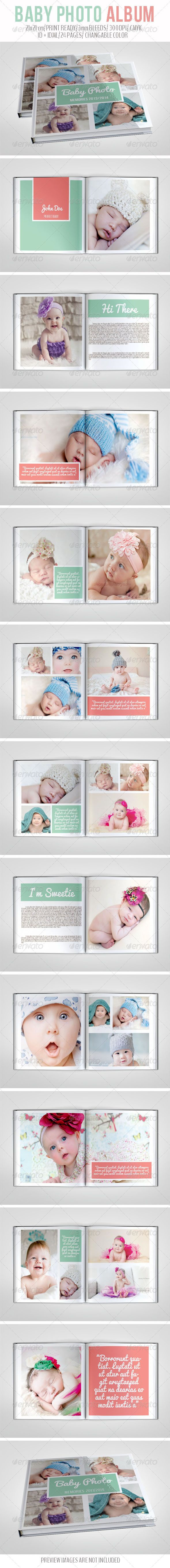 Baby Photo Album - #Photo #Albums Print #Templates Download here: https://graphicriver.net/item/baby-photo-album/6964950?ref=alena994