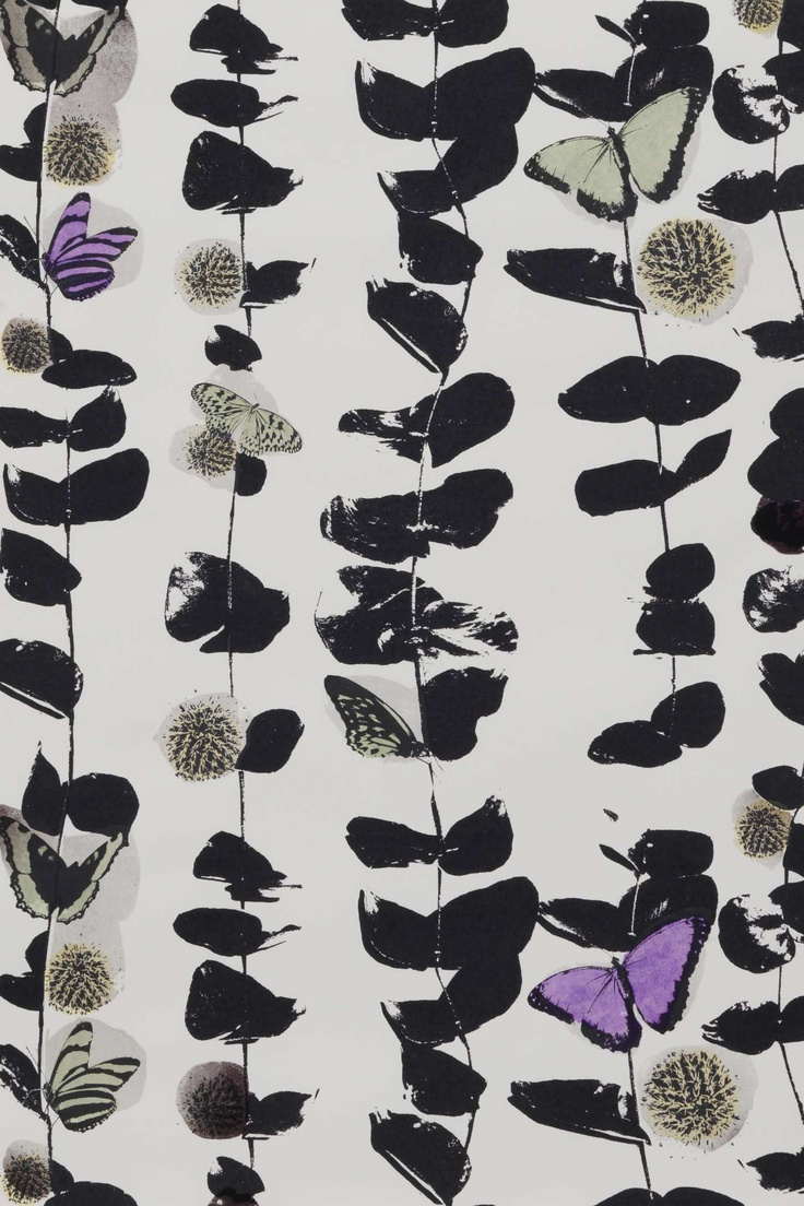 Anthropologie - Hide and Seek Wallpaper. Printed using thermo-sensitive inks, so the patterns change according to temperature.