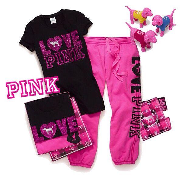 Victoria Secret Love Pink Outfit Idea Comfy Clothes