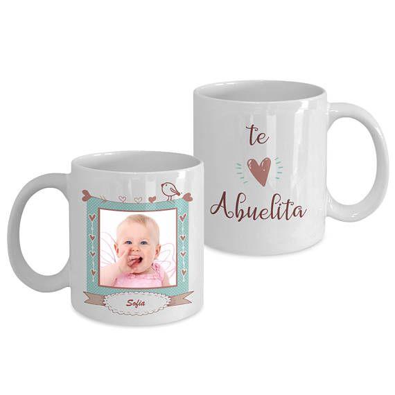 Tazas de cafe personalizadas te Amo Abuelita Mamá Tata
