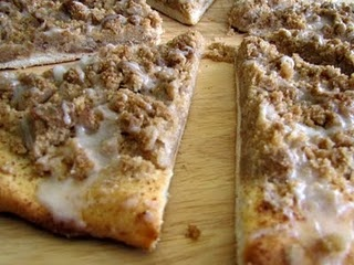 Cinnamon Streusel Dessert Pizza. SO easy!