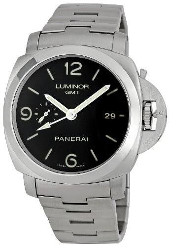 http://ift.tt/2qZFrHe Check Price https://goo.gl/r6ehRn  Panerai Men's PAM00329 Steel Luminor 1950 GMT Black Dial Watch                            Stainless steel case with a stainless steel link bracelet. Fixed stainless steel bezel. Black dial with luminous hands and stick hour markers. Arabic numerals mark the 6 9 and 12 o'clock positions. Date displays at the 3 o'clock position. Small seconds sub-dial. Automatic movement. Scratch resistant sapphire crystal. Fluted protected crown…