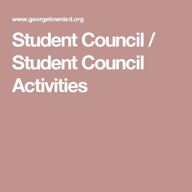 Student Council / Student Council Activities                              …