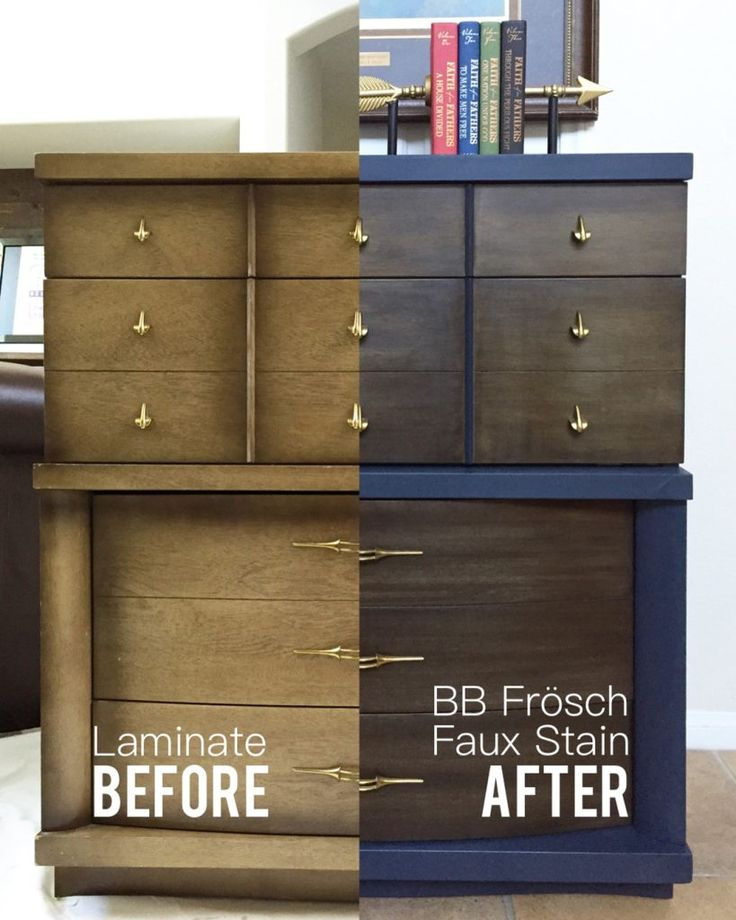 Midcentury Dresser Makeover–Painting Laminate – All Things Thrifty
