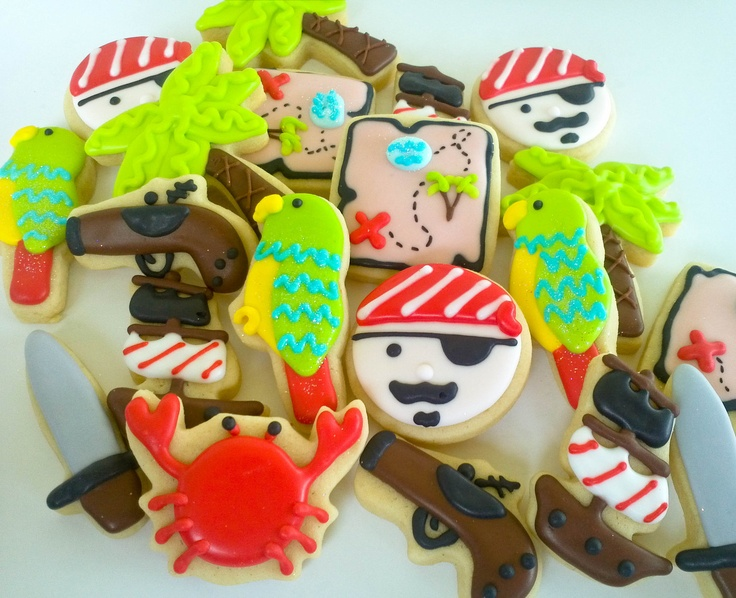 Pirate Mini Sugar Cookies 2 Dozen by acookiejar on Etsy, $27.95