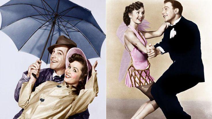 Debbie Reynolds et Gene Kelly dans «Chantons sous la pluie» en 1952.