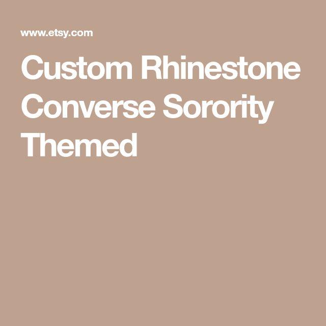 Custom Rhinestone Converse Sorority Themed