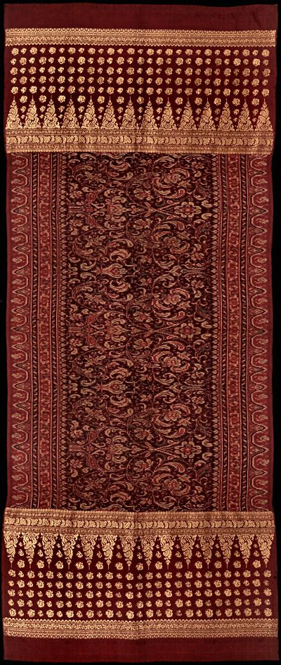 Selendang, Ikat from Bangka, Sumatra, Indonesia, Malay people.