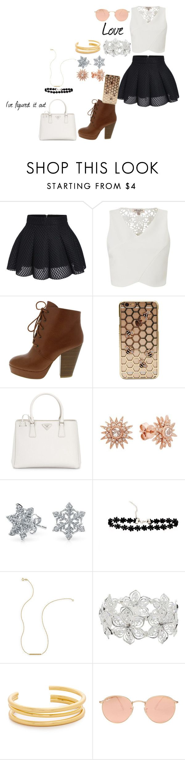 """""""There is this thing called Love"""" by smokeylovebae ❤ liked on Polyvore featuring Lipsy, Prada, Kenza Lee, Bling Jewelry, Wish by Amanda Rose, M&Co, Madewell and Ray-Ban"""