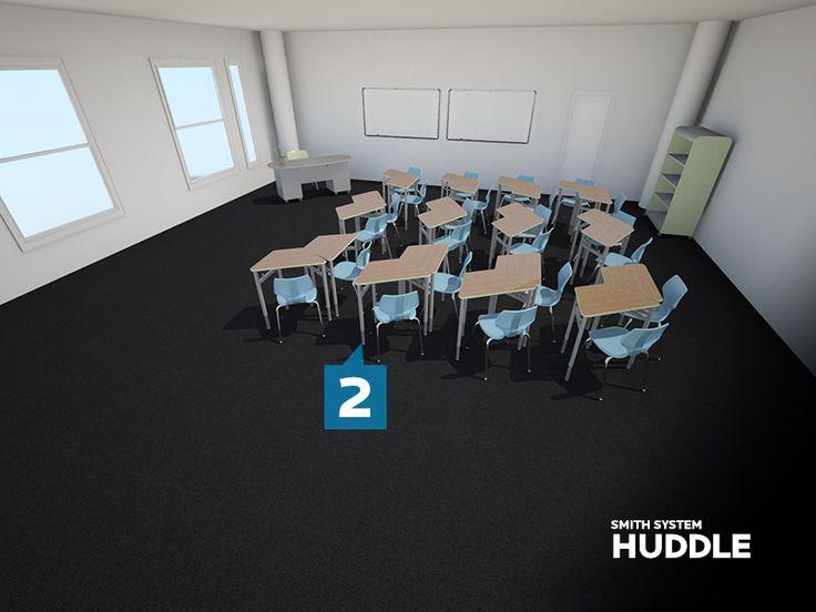 Kay Twelve Com Combine Trapezoid Shaped Desks Together
