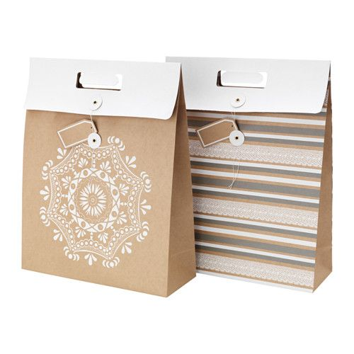 IKEA - VINTER 2015, Gift bag, The gift bag includes a hanging label to write on.