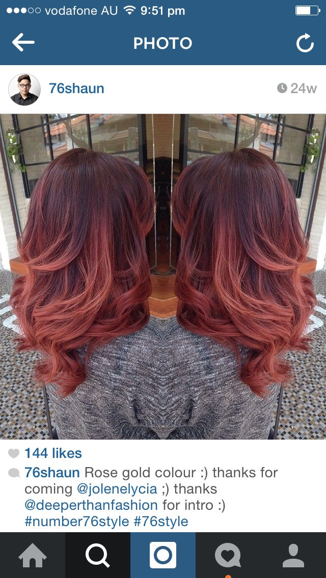 Rose gold ombre