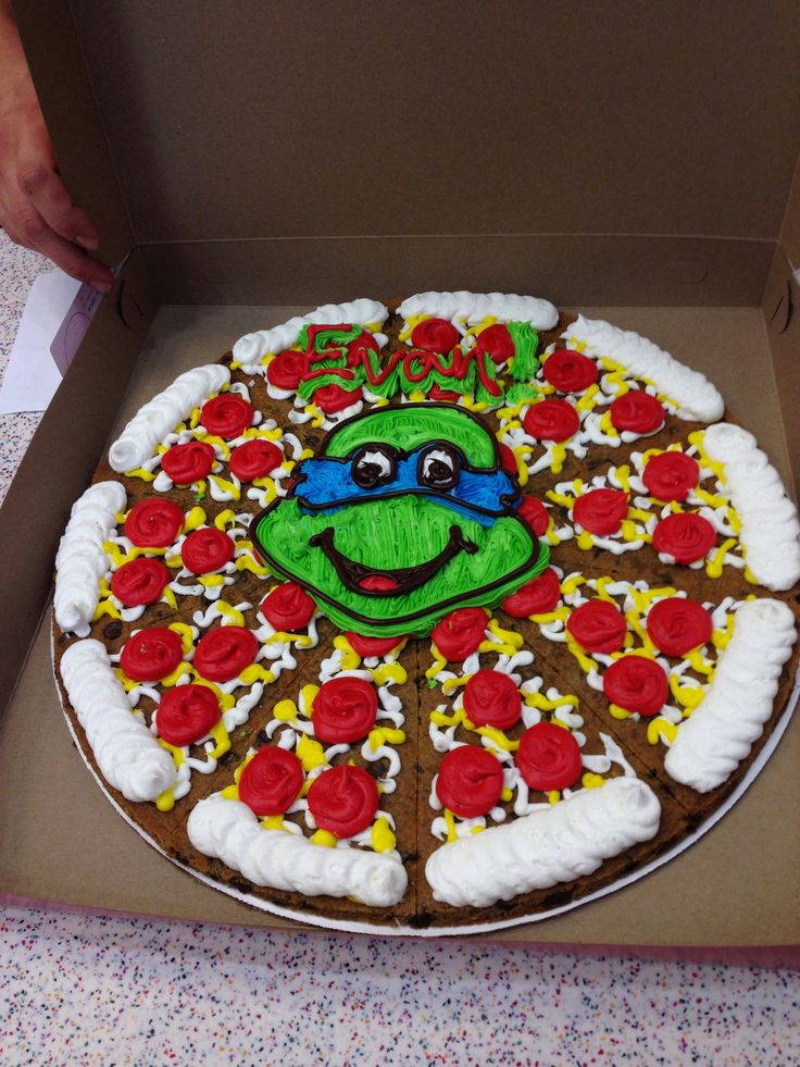 Ninja turtle cookie cake
