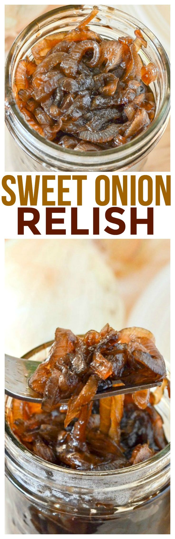 Try this tasty sweet onion relish recipe - or if you want call it onion jam recipe it has sweet balsamic onions caramelized to perfection. via @KnowYourProduce