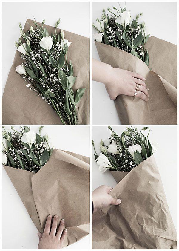 Из того, что под рукой: 5 вариантов оригинальной упаковки букета – Своими руками