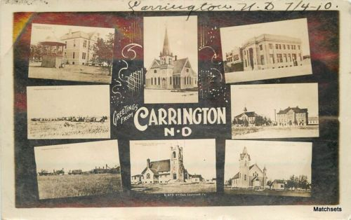 1909 Public And High School Carrington Nd Posted Ebay North Dakota Pinterest