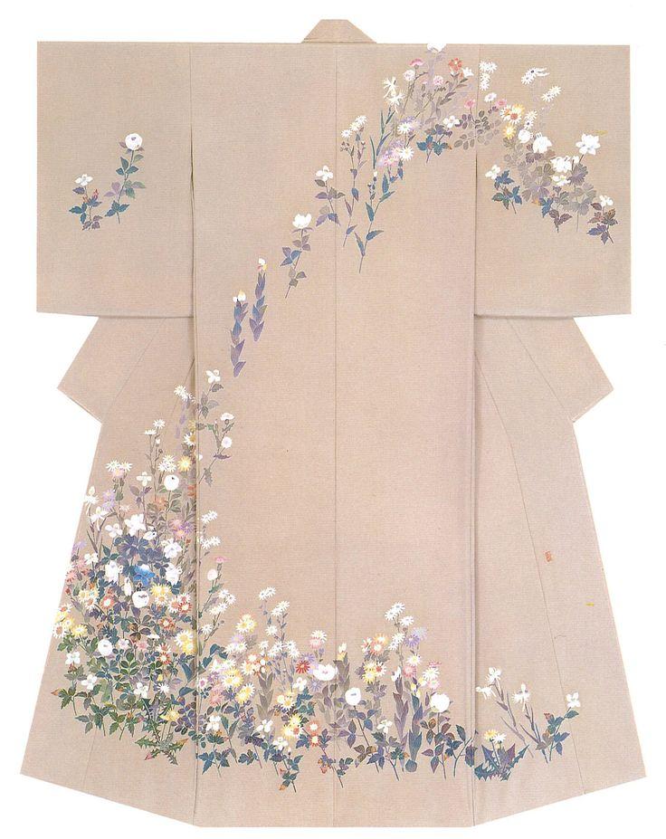 Kaga-Yuzen Kimono (Homongi) Junko Yoshida