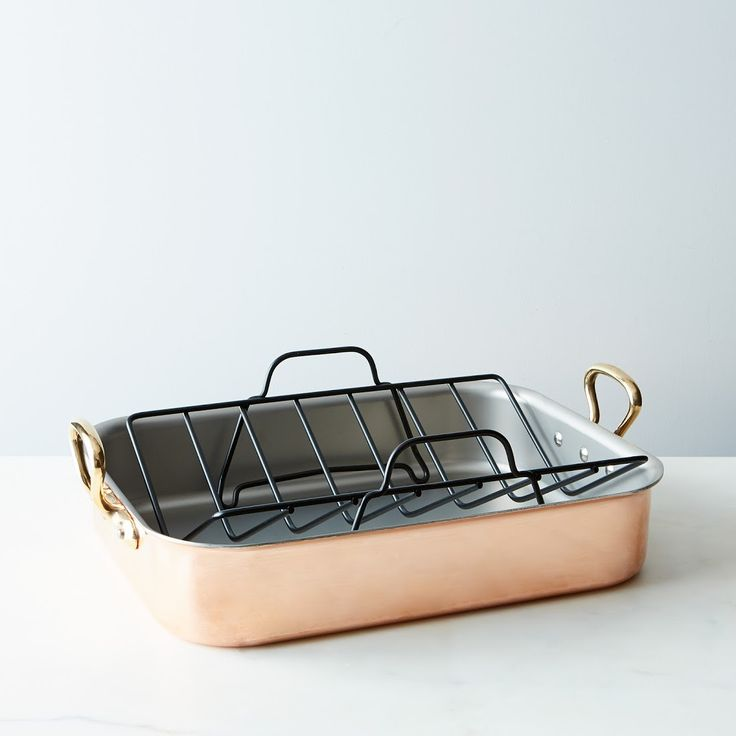 Inspirational Mauviel M uh ritage Copper Roasting Pan with Rack