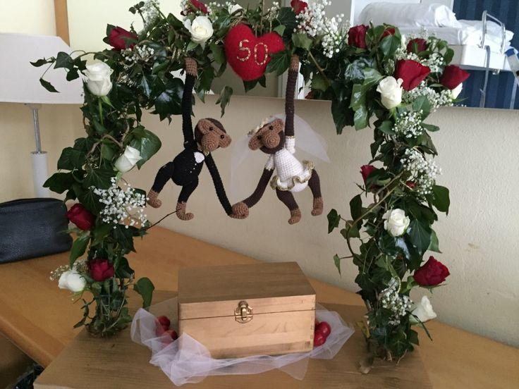 Hæklede KB aber, bryllups udgave