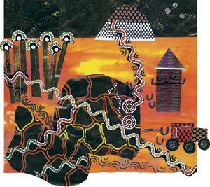Australian Indigenous art storytelling activity.