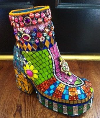 Boots with mosaic