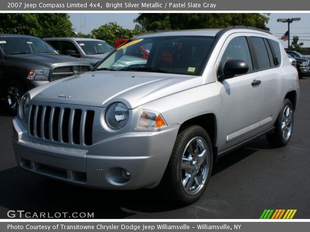 2007 silver jeep compass  | Bright Silver Metallic 2007 Jeep Compass Limited 4x4 with Pastel Slate ...