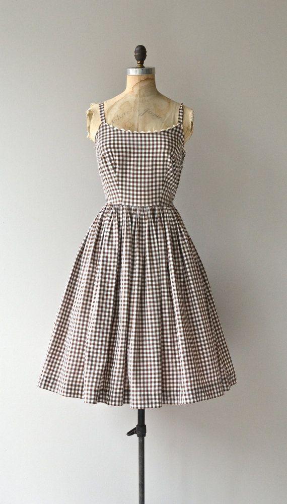 Roadside Picnic dress vintage 1950s dress gingham by DearGolden