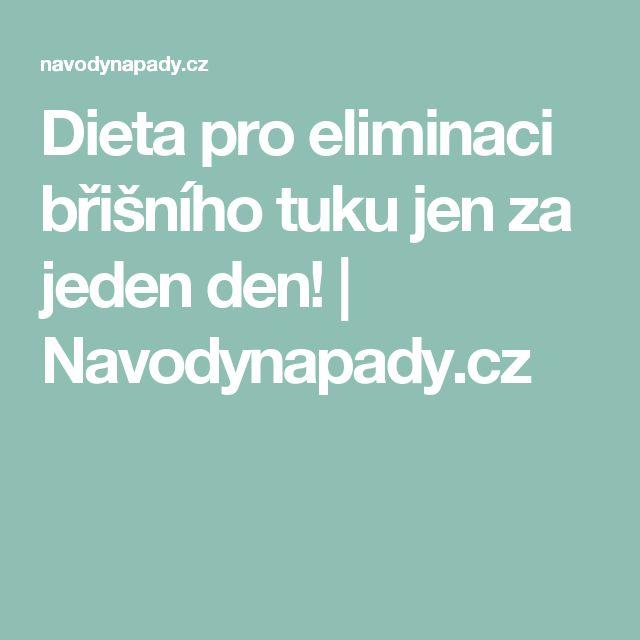 Dieta pro eliminaci břišního tuku jen za jeden den! | Navodynapady.cz