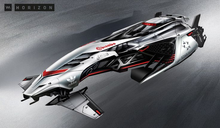 concept ships: Futuristic Racing Glider concepts by Vadim Motov