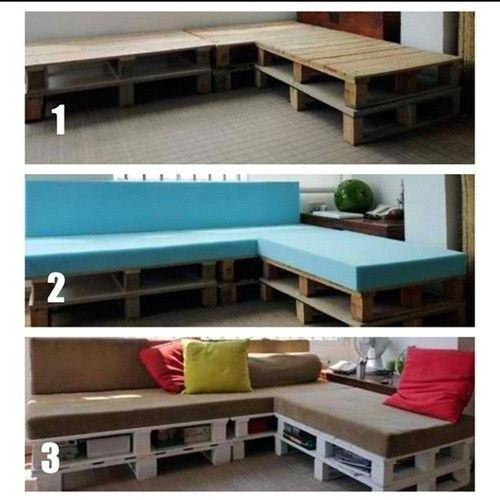 My next #DIY #project. Couch made from wood pallets   (Taken with Instagram)