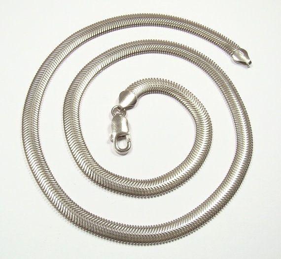 FLAT SNAKE 6.4 .mm chain   sterling silver 925   by DawidPandel, zł170.00