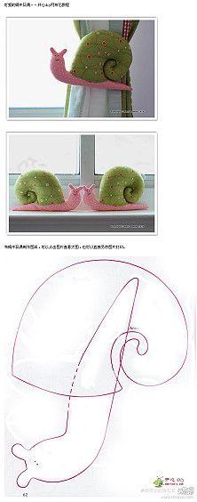 Free Snail Sewing Pattern