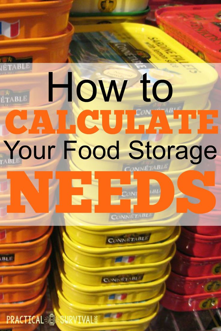 How to calculator your food storage needs incase SHTF