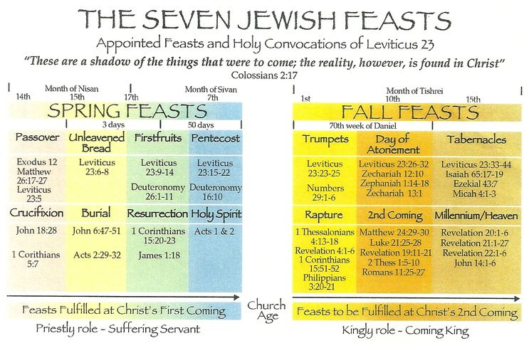 feasts prophecy | In Leviticus 23, the Lord appointed seven feasts as yearly rehearsals ...