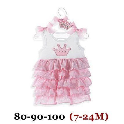 Розовый корона лето кекс детские принцесса платье для новорожденных девочек платье халат Bebe Fille Vestido Infantil Menina детская детские платья