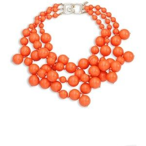 Kenneth Jay Lane Three-Strand Beaded Statement Necklace