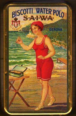 Vintage Italian Saiwa biscotti tin