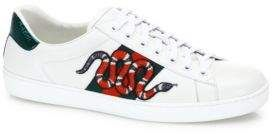 Gucci New Ace Snake Lace-Up Sneakers   #Gucci #sneakers #ShopStyle #MyShopStyle click link for more information