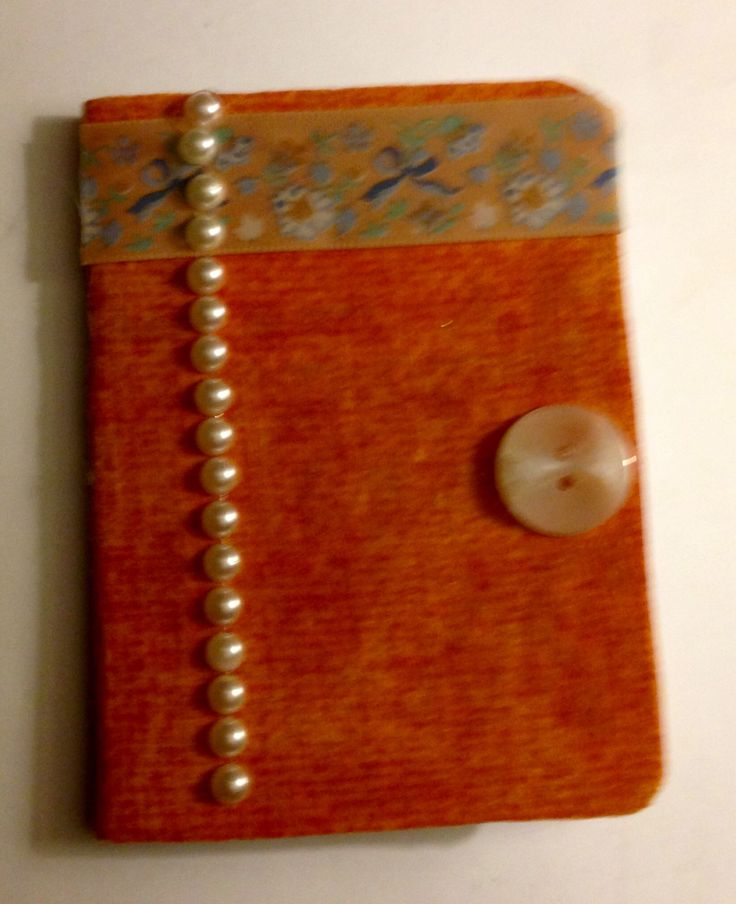 Fabric covered note pad