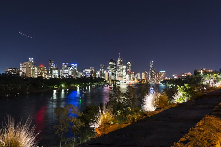 RealScope.com.au Photo of Brisbane City Skyline from Woolloongabba CliffsDusk Real Estate Photography