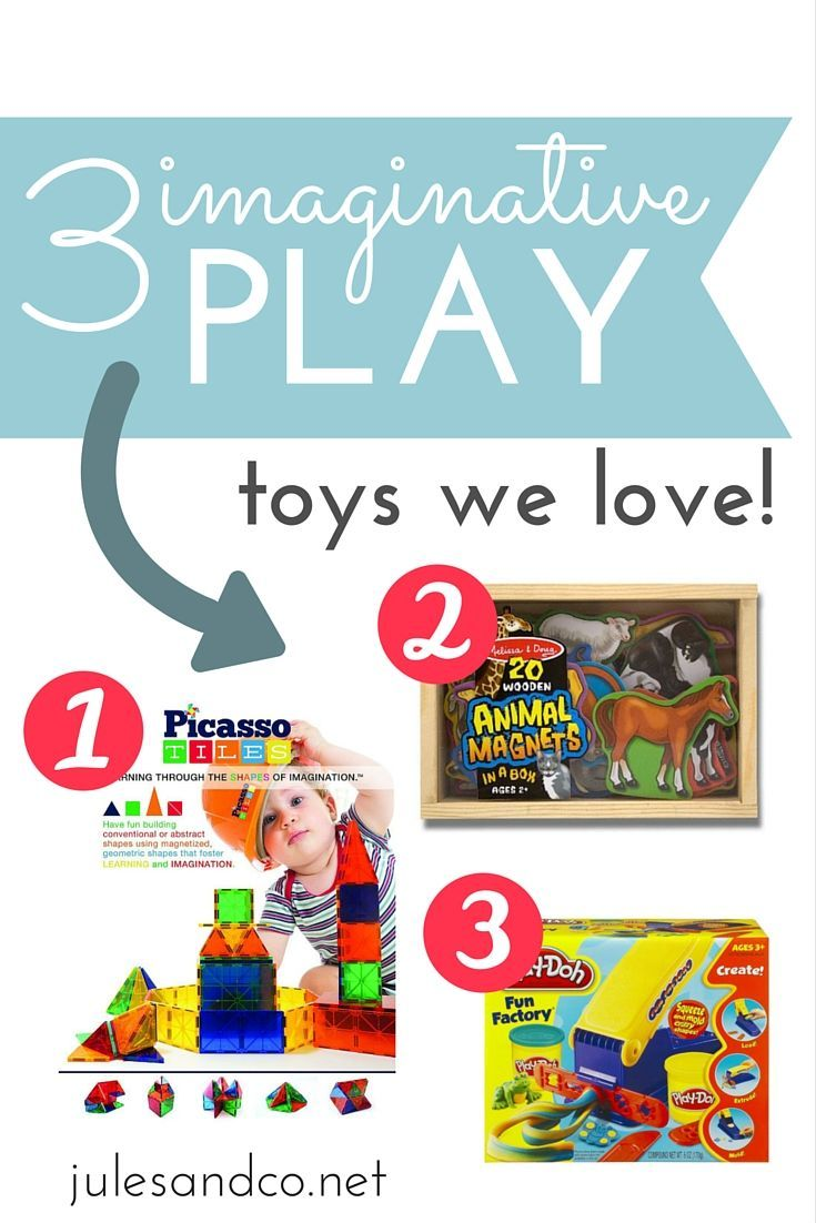 Imaginary play is so important for the development of young children. For my son, I've found a few favorite toys that we use to develop his imagination. You can encourage imagination and creativity too with my favorite picks for imaginative play toys!