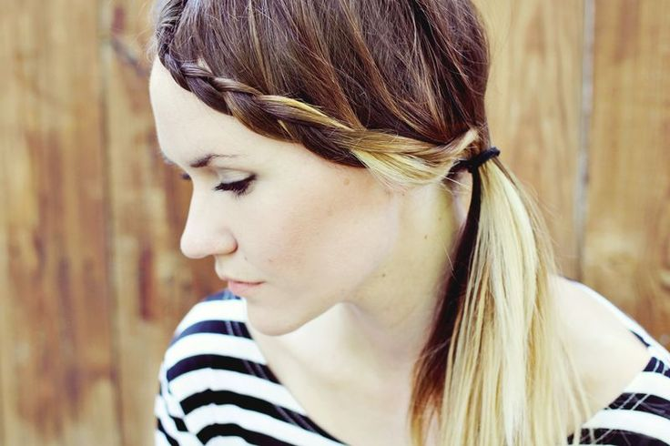 HOW TO STYLE BRAIDED BANGS (comb down to push the braid lower after you´re done) #flette #lugg #tutorial
