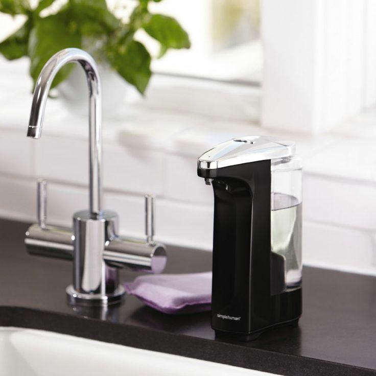 Distributeur de savon automatique compact rechargeable + savon liquide Simplehuman