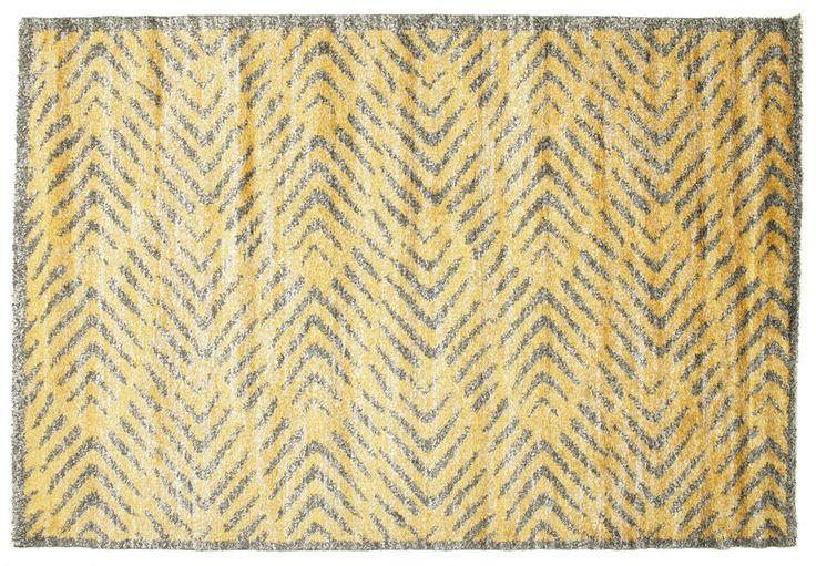 Shaggy Ashley - Geel tapijt 200x300