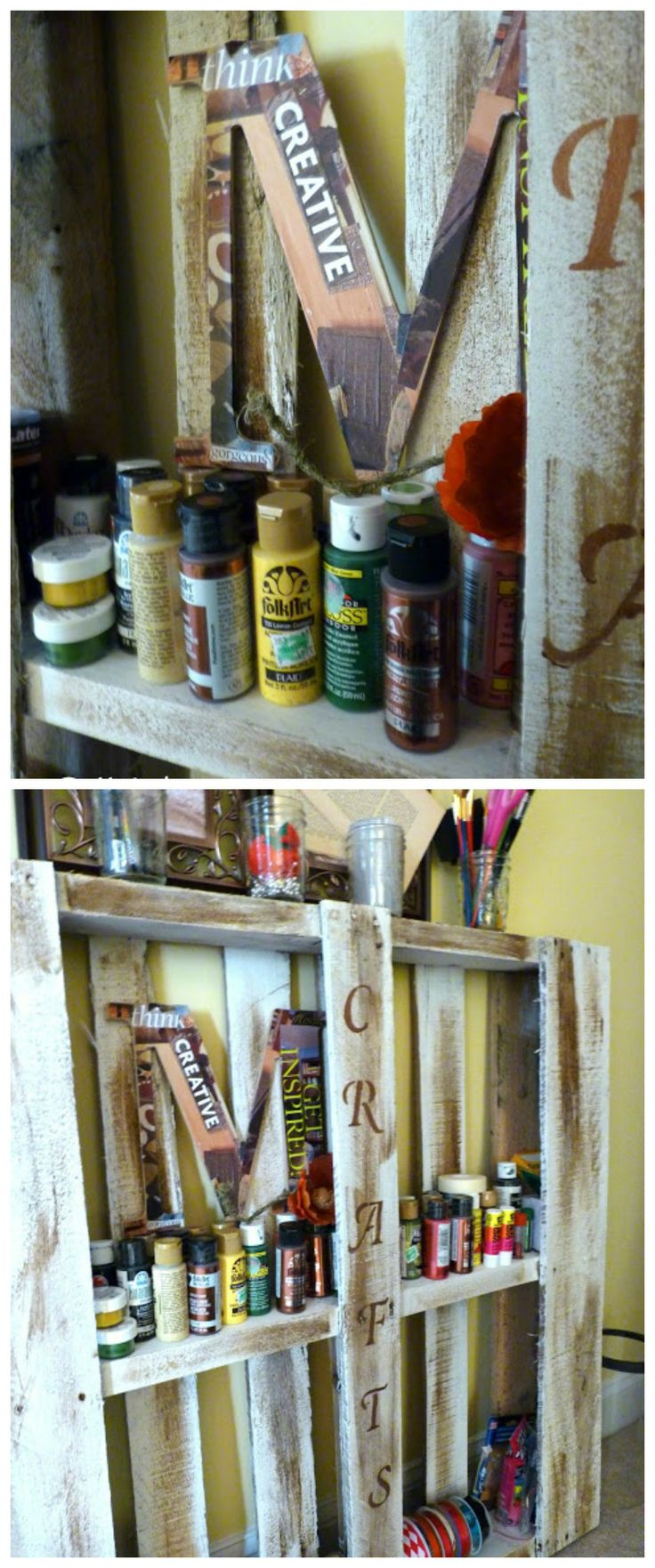 Make a #craft supply #pallet. #free #upcycled